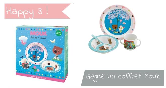 Vaisselle pour enfant Mouk {giveaway inside}