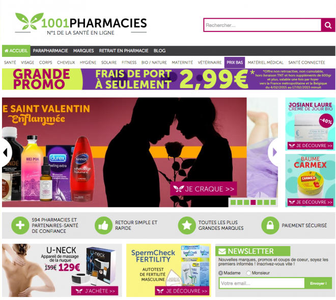 front page 1001pharmacies.com