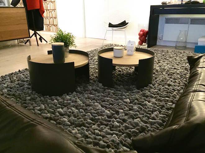 tables basses rondes et acier Nox