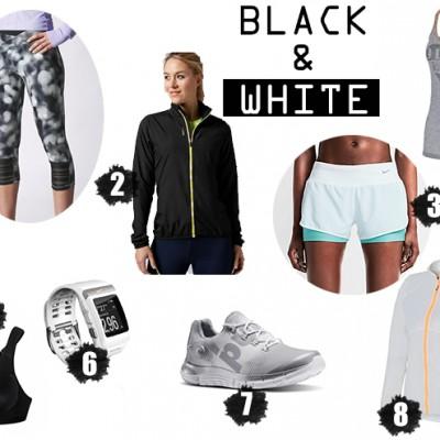 Black-and-white-running-woman