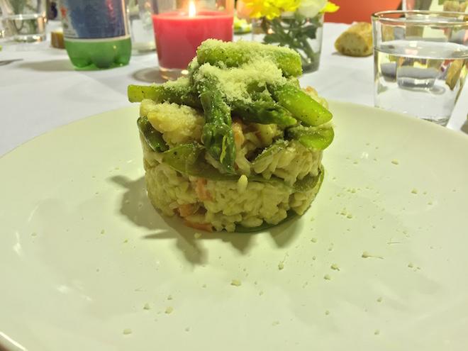 plat risotto primavera al foodette cuisine collective