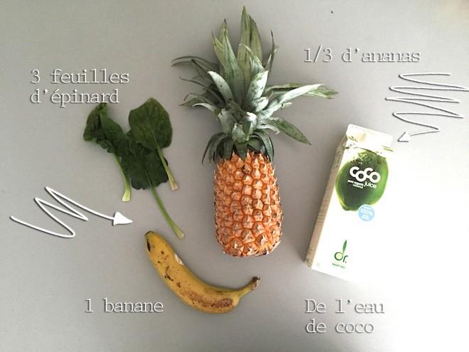 Smoothie special rhume ingrédients