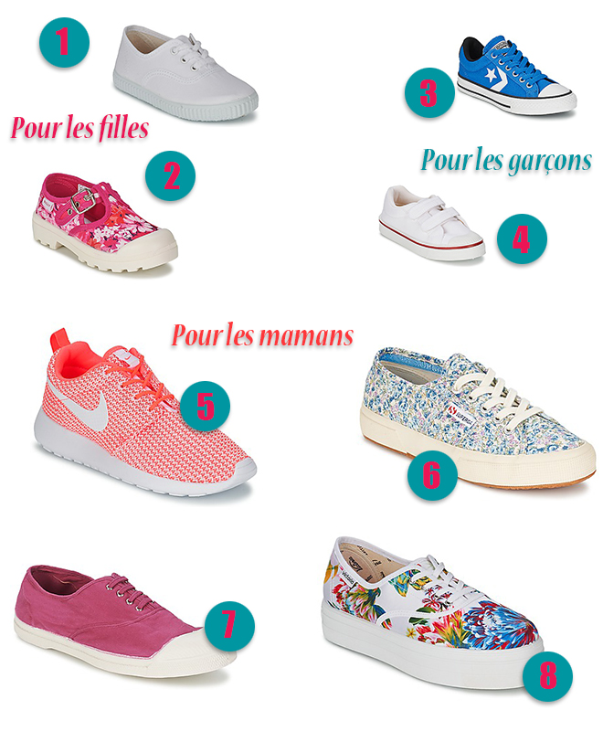 shopping-chaussures en toile