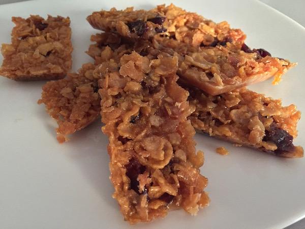 barre de céréales et cranberries sans gluten