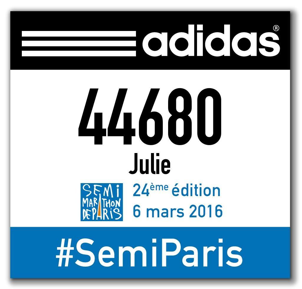 dossard semi-marathon de paris