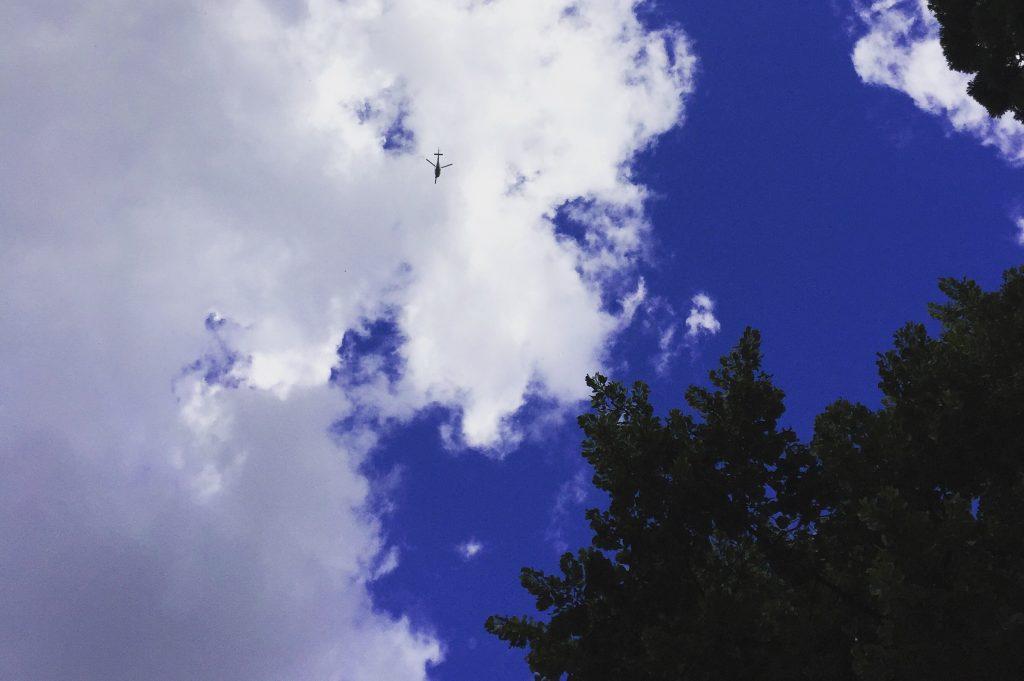 ciel bleu Paris