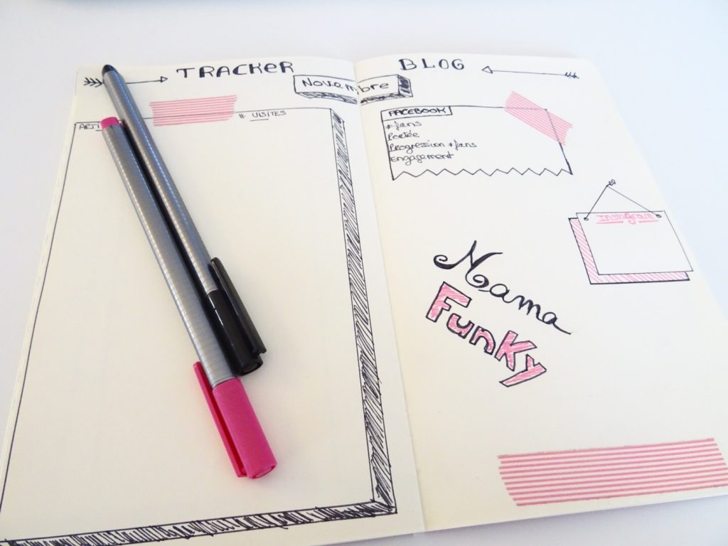 Bullet Journal Tacker blogging