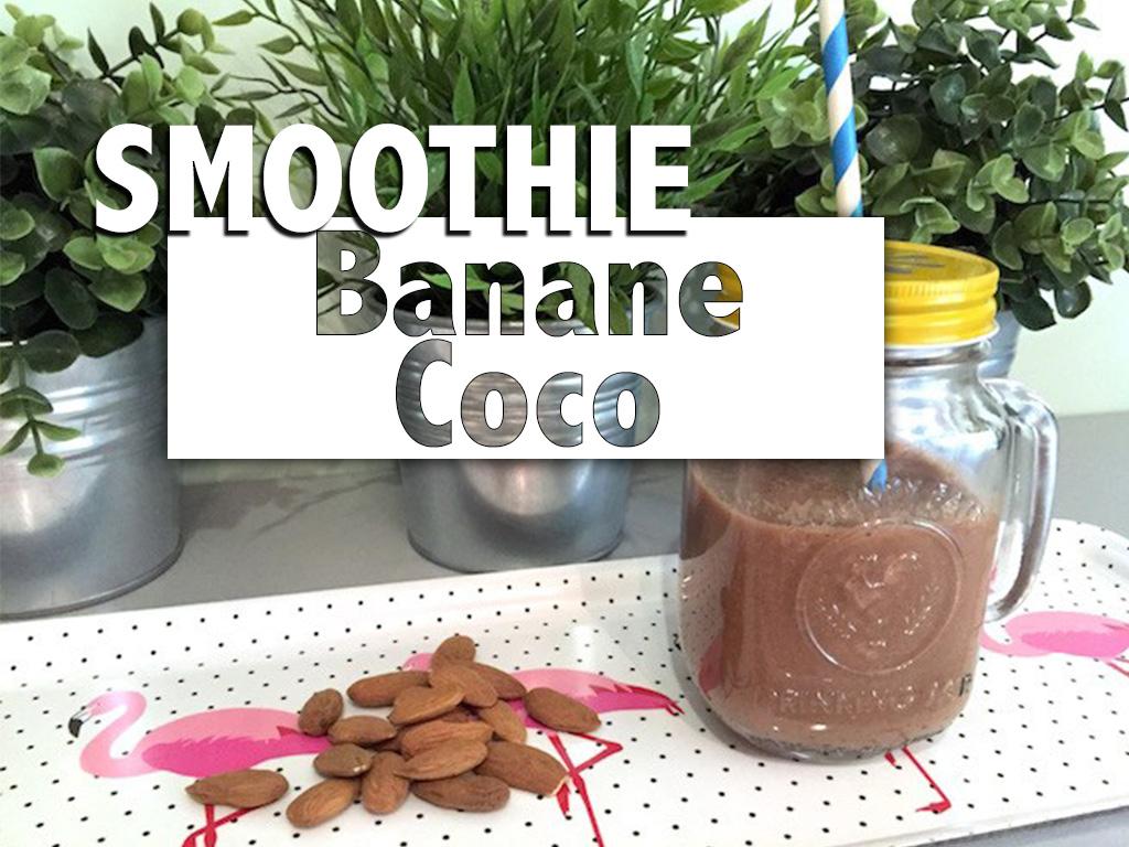 Smoothie banane coco