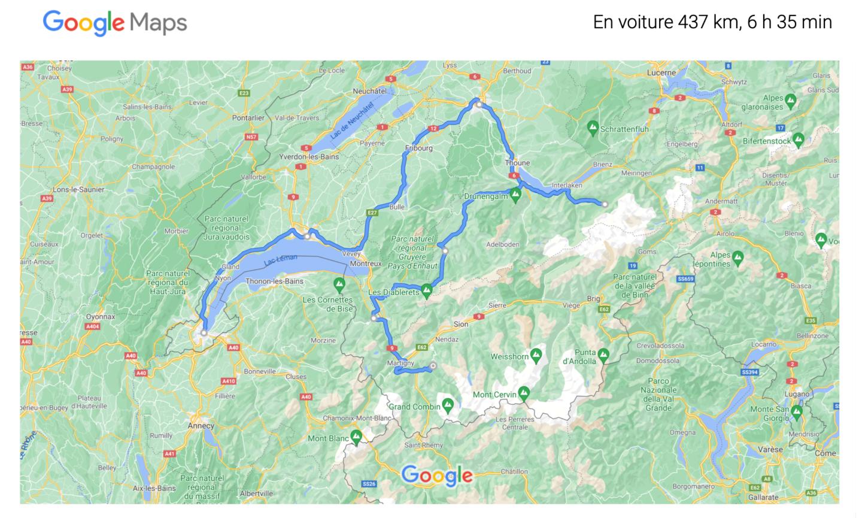 Circuit roadtrip google maps
